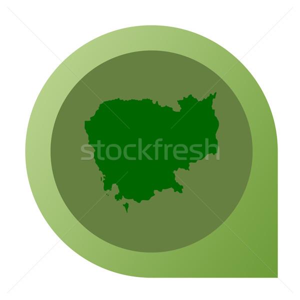 Isolated Cambodia map marker pin Stock photo © speedfighter