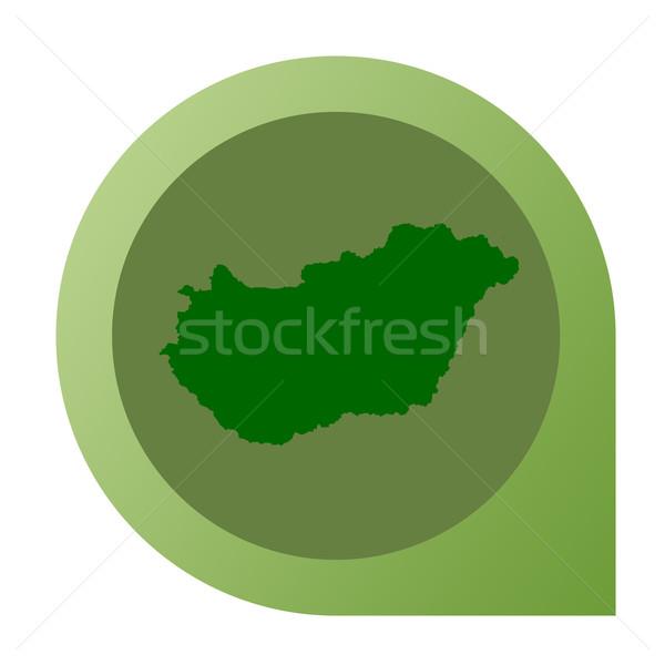 Isolated Hungary map marker pin Stock photo © speedfighter