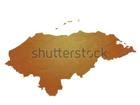 Mintázott térkép Magyarország barna kő kő Stock fotó © speedfighter