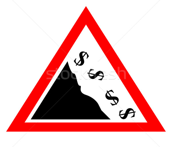 Falling dollar currency concept sign Stock photo © speedfighter
