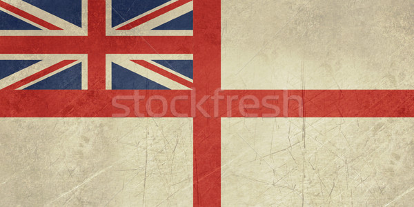 Grunge British Royal Navy flag Stock photo © speedfighter
