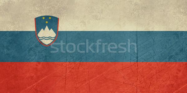 Гранж Словения флаг стране официальный цветами Сток-фото © speedfighter
