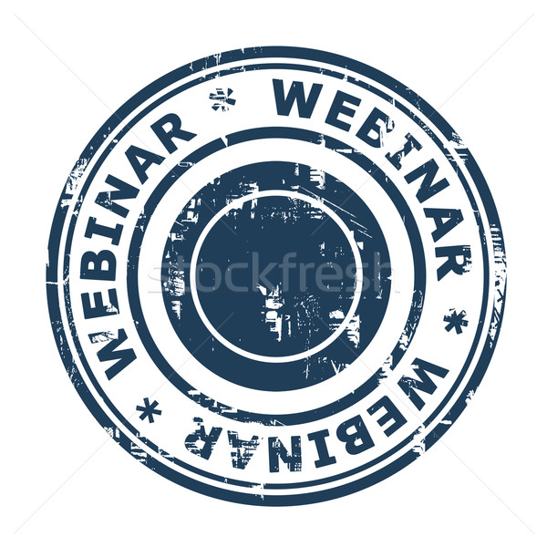 Webinar Stempel isoliert weiß Business Web Stock foto © speedfighter