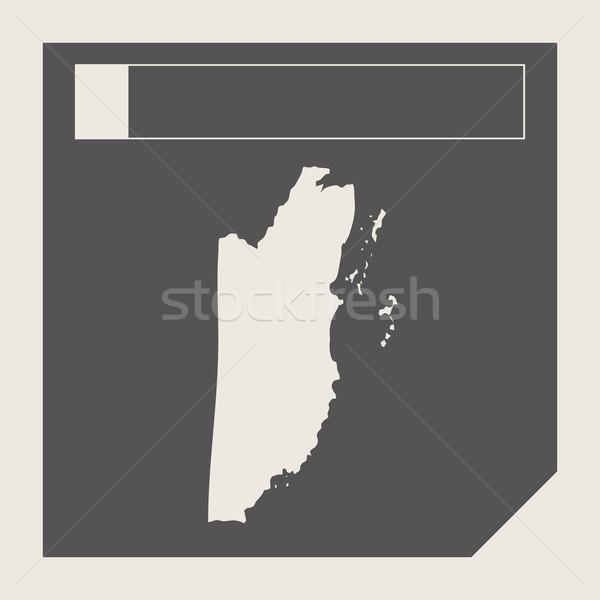 Belize térkép gomb reszponzív web design izolált Stock fotó © speedfighter
