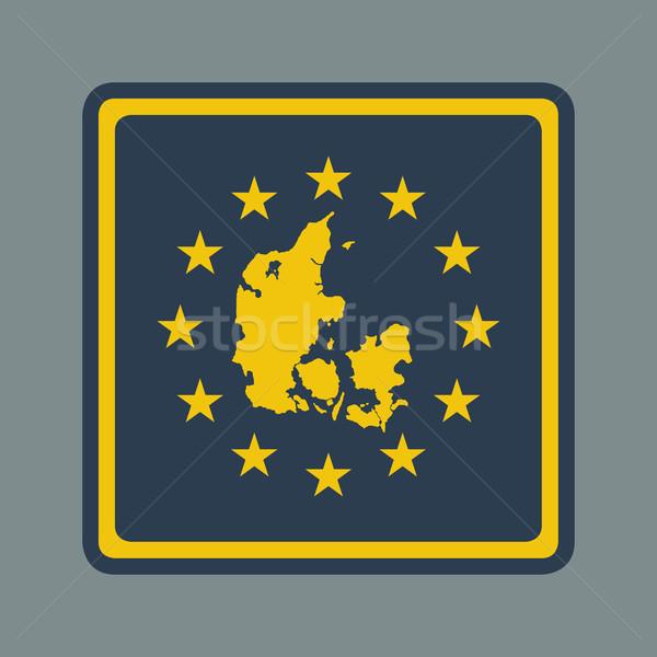 Denemarken europese vlag knop sympathiek web design Stockfoto © speedfighter