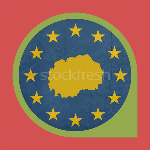 Europeo Unión Macedonia marcador botón aislado Foto stock © speedfighter