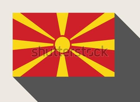 Macédoine pavillon web design style carte bouton Photo stock © speedfighter
