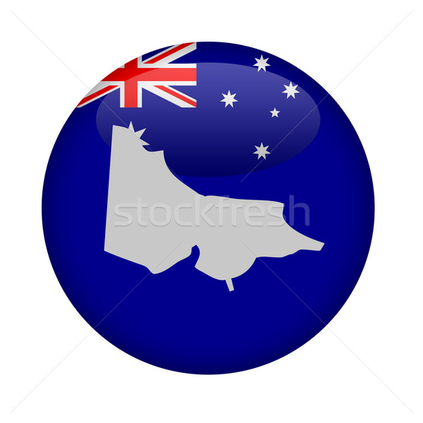 Australia state of Victoria map button Stock photo © speedfighter
