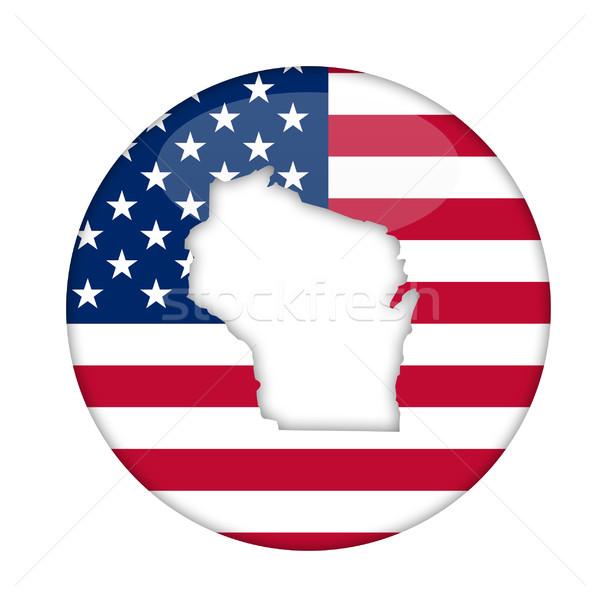 Amérique badge isolé blanche affaires design Photo stock © speedfighter