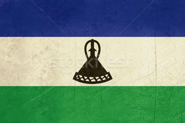 Гранж Лесото флаг стране официальный цветами Сток-фото © speedfighter