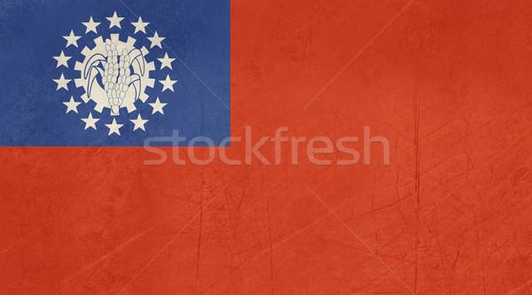 Grunge Myanmar flag Stock photo © speedfighter