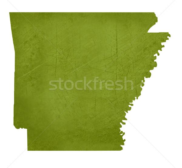 Arkansas amerikai izolált fehér vágási körvonal térkép Stock fotó © speedfighter