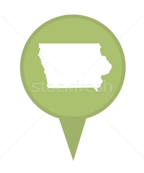 Iowa térkép tő amerikai jelző izolált Stock fotó © speedfighter