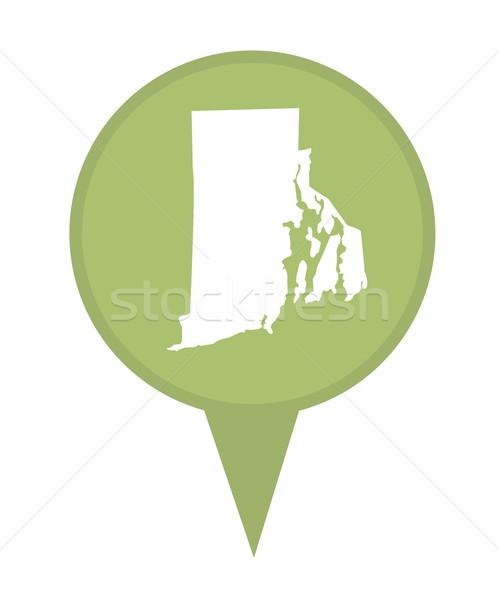 Rhode Island harita pin amerikan işaretleyici yalıtılmış Stok fotoğraf © speedfighter