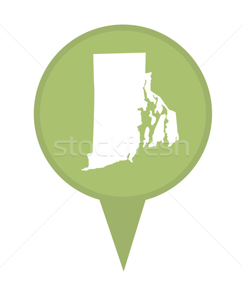Rhode Island kaart pin amerikaanse fiche geïsoleerd Stockfoto © speedfighter