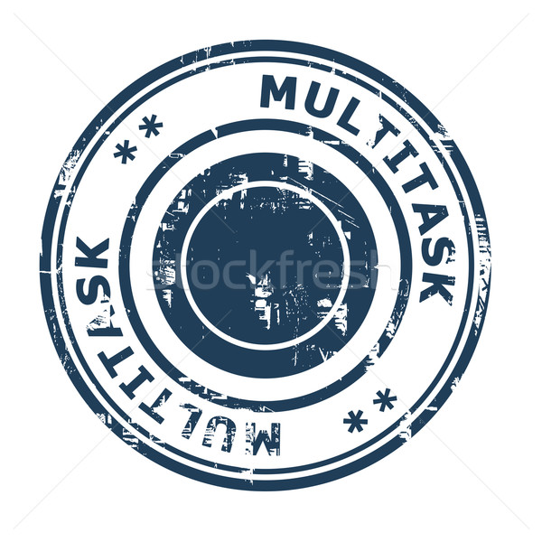 Stock photo: Multitask business concept rubber stamp