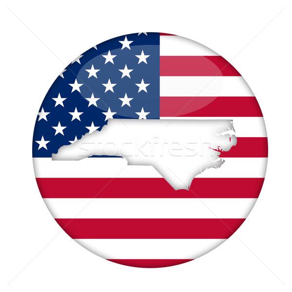 Észak-Karolina Amerika kitűző izolált fehér üzlet Stock fotó © speedfighter