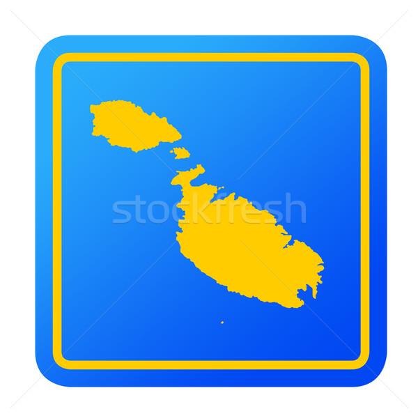 Malta europese knop geïsoleerd witte Stockfoto © speedfighter