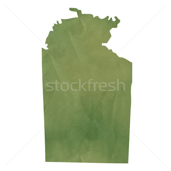 Northern Territory map on green paper Stock photo © speedfighter