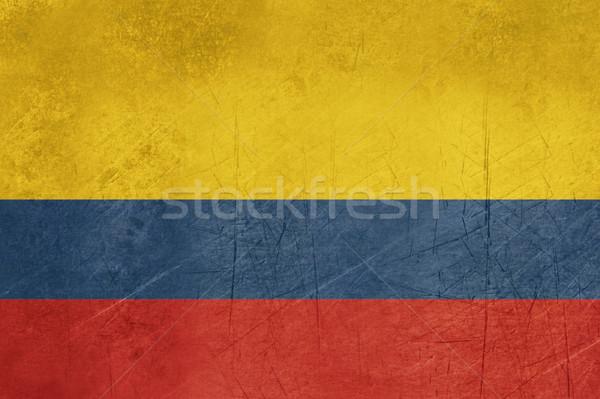 Stock fotó: Grunge · Colombia · zászló · vidék · hivatalos · színek