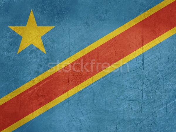 Grunge demokratischen Republik Kongo Flagge Land Stock foto © speedfighter