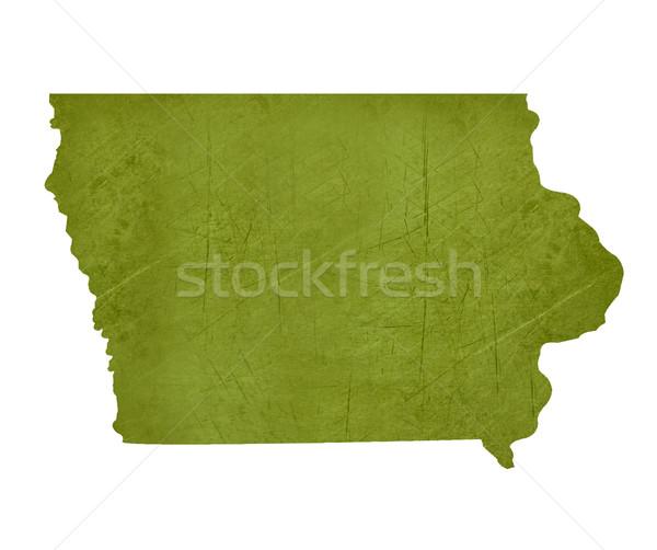 Iowa amerikai izolált fehér vágási körvonal térkép Stock fotó © speedfighter