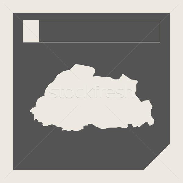 Bhutan kaart knop sympathiek web design geïsoleerd Stockfoto © speedfighter