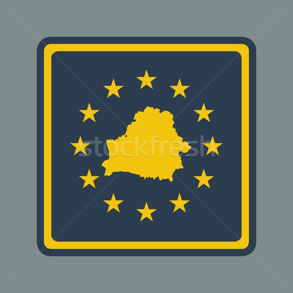 Belarus avrupa bayrak düğme duyarlı web tasarım Stok fotoğraf © speedfighter