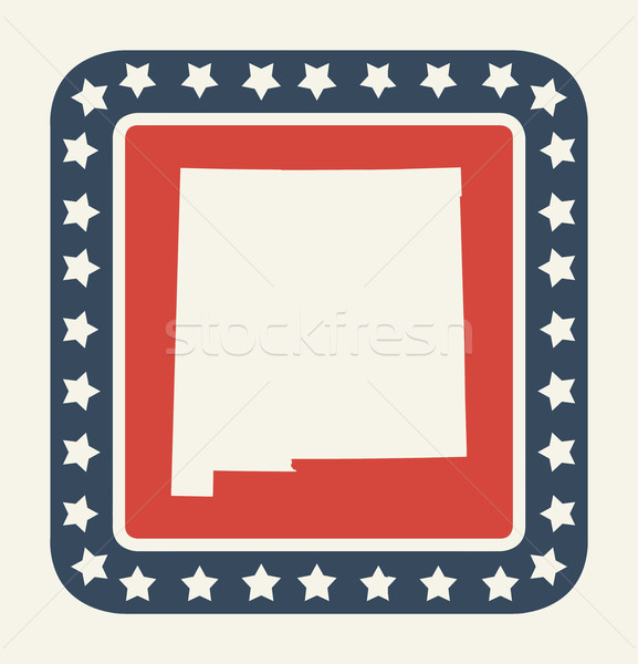 New Mexico American state button Stock photo © speedfighter