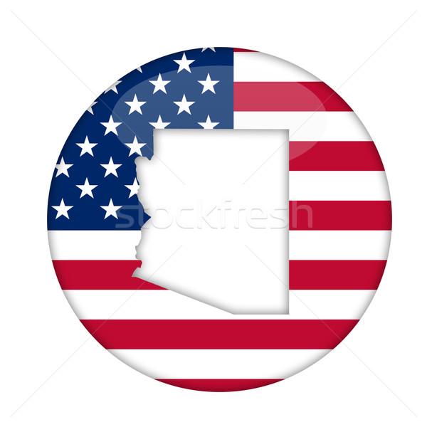 Arizona América placa aislado blanco negocios Foto stock © speedfighter