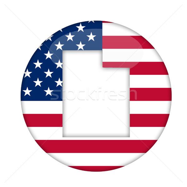 Utah América placa aislado blanco negocios Foto stock © speedfighter
