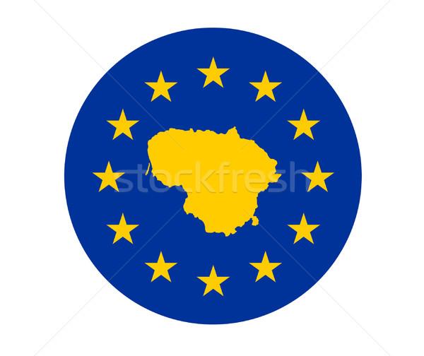 Litouwen europese vlag kaart unie Geel Stockfoto © speedfighter