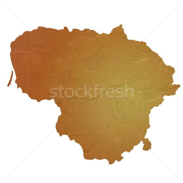 Mintázott térkép Litvánia barna kő kő Stock fotó © speedfighter