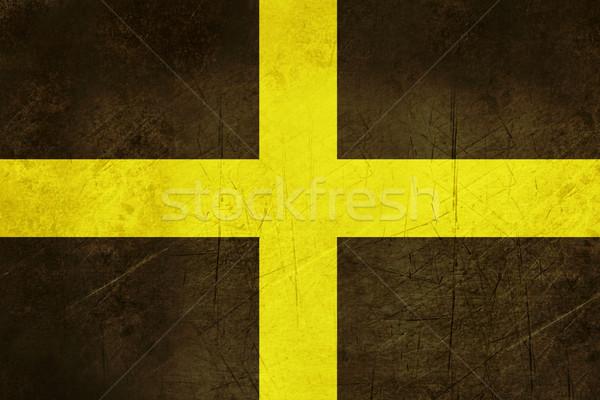 Bandeira país de gales grunge ilustração atravessar Foto stock © speedfighter