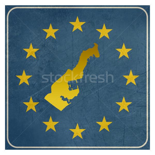 Monaco européenne signe isolé blanche étoiles Photo stock © speedfighter