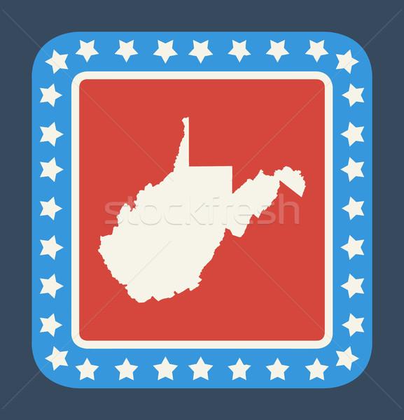 West Virginia state button Stock photo © speedfighter