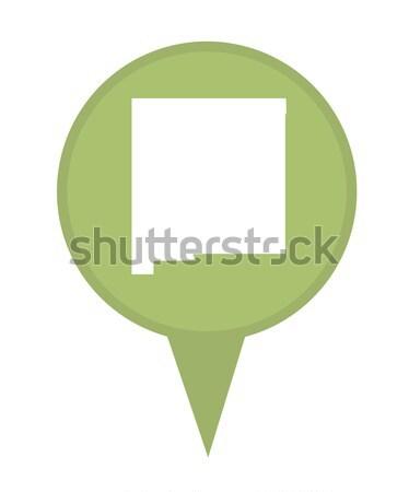Nowy Meksyk Pokaż pin amerykański znacznik odizolowany Zdjęcia stock © speedfighter