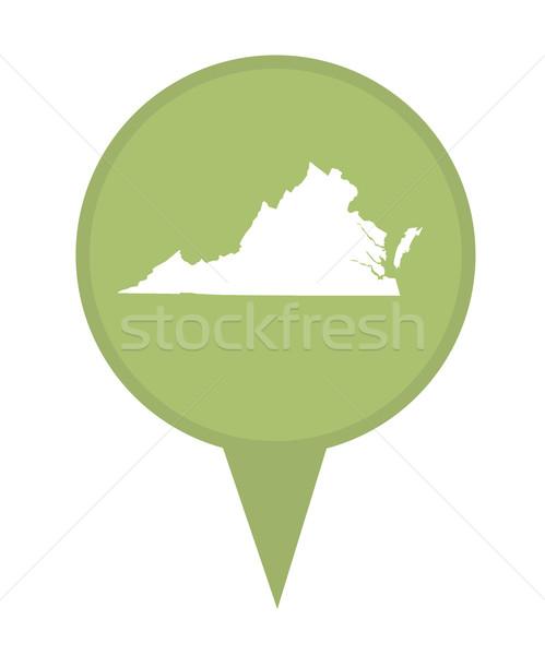 Виргиния карта Pin американский маркер изолированный Сток-фото © speedfighter