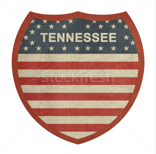 Grunge Tennessee American interstate highway sign Stock photo © speedfighter