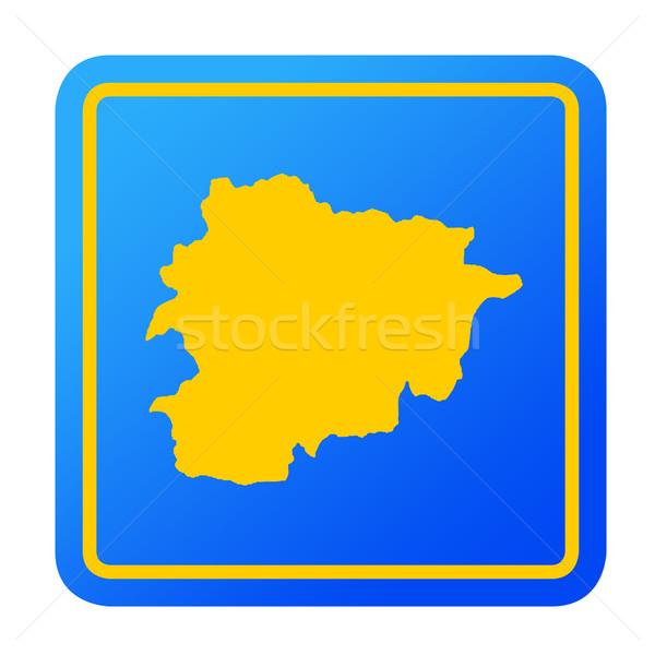 Andorra europese knop geïsoleerd witte Stockfoto © speedfighter