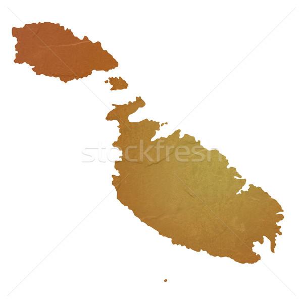 Kaart Malta bruin rock steen Stockfoto © speedfighter