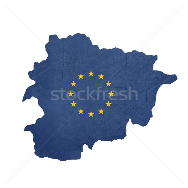 European flag map of Andorra Stock photo © speedfighter