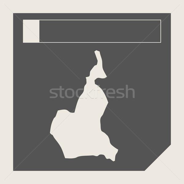 Kameroen kaart knop sympathiek web design geïsoleerd Stockfoto © speedfighter