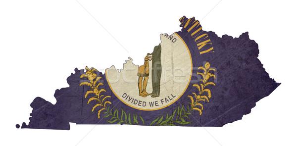State of Kentucky grunge flag map Stock photo © speedfighter