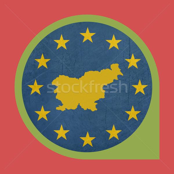 Európai szövetség Szlovénia jelző gomb izolált Stock fotó © speedfighter
