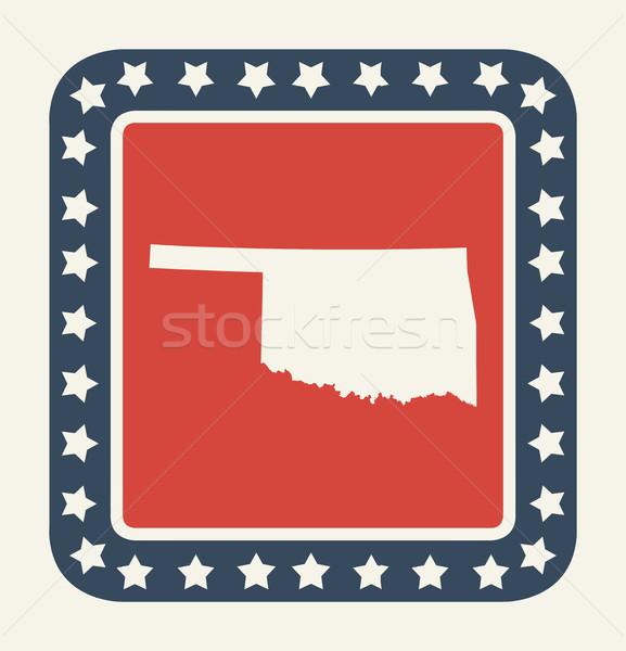 Oklahoma amerikaanse knop Amerikaanse vlag web design stijl Stockfoto © speedfighter