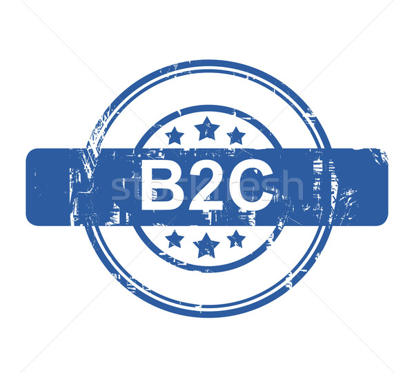 B2C business concept stamp Stock photo © speedfighter