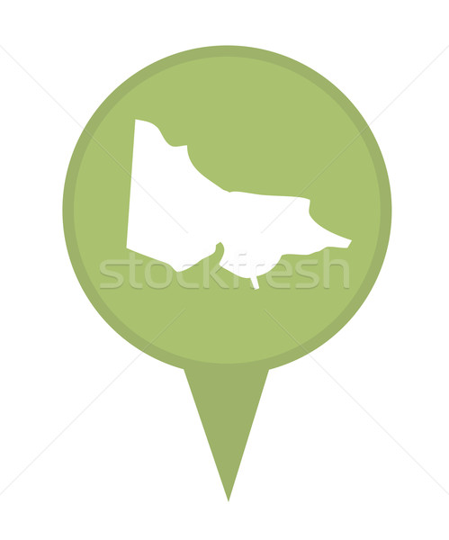 Australia State of Victoria map marker pin Stock photo © speedfighter
