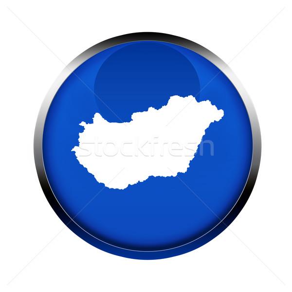 Hungria mapa botão cores europeu união Foto stock © speedfighter