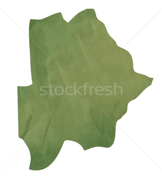 Starych zielone papieru Pokaż Botswana odizolowany Zdjęcia stock © speedfighter